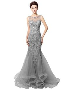 Amazon.com: Clearbridal Women's Sheer Bodice Mermaid Prom Dress Evening Gown CLX006: Clothing