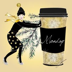 No snow - just a messy, snotty, sticky Monday in the end of boring November. Think we need some sparkle and glitter coffee while waiting for tomorrow.... December! Christmas month and the start of my advent calendar. #supergirl #art #advent #christmas #christmasspirit #draw #drawing #digitalart #fashion #fashionillustrator #fashionillustration #glitter #gold #happy #ilovemyjob #illustrator #illustration #love #me #neverbored #sparkle #december #sketch #work #coffee #monday