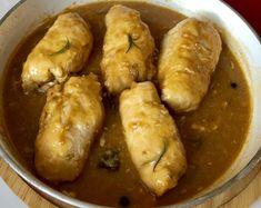Roladki drobiowe z warzywami i mozzarellą - Blog z apetytem Mozzarella, Chicken Wings, Poultry, Sausage, Rolls, Food And Drink, Potatoes, Tasty, Lunch
