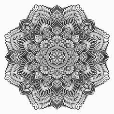 🙇♂️Hope that you like it. Mandala Doodle, Mandala Art Lesson, Mandala Artwork, Mandala Painting, Mandala Drawing, Doodle Art, Mandala Tattoo Design, Madhubani Painting, Mandala Coloring Pages