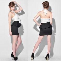 [送料無料][2ピース]アメスリ風ホルタートップスペプラムミニドレス Ballet Skirt, Sexy, Skirts, Dresses, Fashion, Vestidos, Moda, Skirt Outfits, Skirt