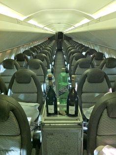 Concorde interior designed by Sir Terence Conran