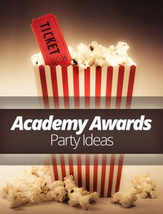 Academy Awards #Party Ideas! #entertaining #academyawards