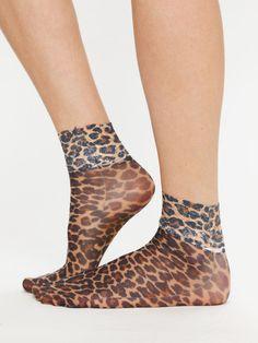 Sheer Leopard Ankle Sock