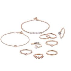 Only US$7.99 , shop 10 Pcs of Gold Silver Plated Artificial Pearl Rings Women Bracelets Jewelry Set at Banggood.com. Buy fashion Jewelry Set online.