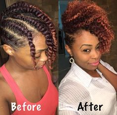 How To Twist Natural Hair Properly for Twist Outs - Natural hairstyles - High buns hairstyles of all types, wedding styles for natural hair, with bangs, without weave, cute & sleek updo tutorials for easy and tight formal styles for long hair & short. Natural Hair Twist Out, Natural Hair Updo, Natural Hair Growth, Natural Twist Out Hairstyles, Alternative Hairstyles, Natural Skin, High Bun Hairstyles, My Hairstyle, Girl Hairstyles