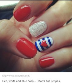 Cute 4th of july nails ;-)