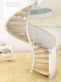DNA stairs are an architectural achievement from Geoffrey Packer.