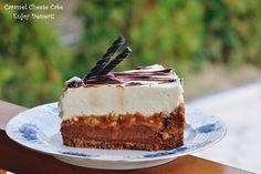 Tort cu branza, ciocolata si caramel