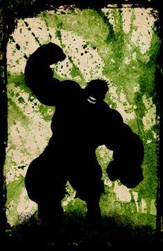 Hulk Silhouette Poster // Avengers // Giclee // Wall Art // Decor Art // Home Decor // Wall Hanging // Minimalist Art Print by DapperDragonArts on Etsy https://www.etsy.com/listing/213198835/hulk-silhouette-poster-avengers-giclee