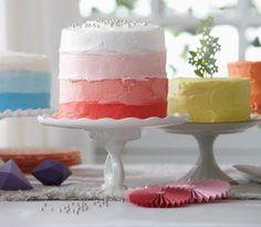 Ombre cake  Vanilla