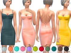 The Sims Resource: Criss cross Back Mini Dress by ekinege • Sims 4 Downloads