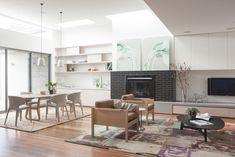 Doherty Design Studio's Ashburton Residence Living and dining.