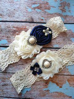 wedding garter / NAVY BLUE  / bridal  by FallenStarCoutureInc, $24.99