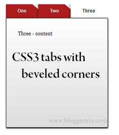 CSS3 Tabs With Beveled Corners For Blogger | Blogger Trix | Blogger Tips and Tricks | Free Templates