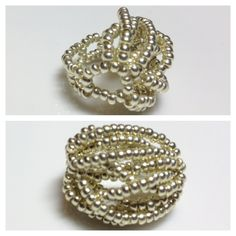 Golden Strappy Seed Bead Ring @ Yuki's Rings