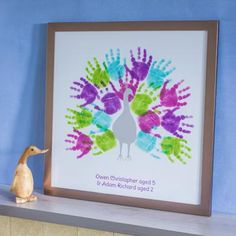 We create works of art from your family's hand and footprints. We send you our inkless printing pack which contains wipes and coated paper, so you . Fun Crafts, Crafts For Kids, Arts And Crafts, Kids Prints, Art Prints, Hand Kunst, Fingerprint Art, Footprint Crafts, Handprint Art