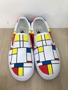 81538b96ce Custom Vans Shoes Mondrian Shoes Custom Painted Vans Shoes