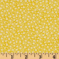 Moda Sew & Sew Apron Strings Lemon Drop from @fabricdotcom  Designed by Chloe's Closet for Moda, this quilting cotton collection features quilting and sewing things in bright and fun colors. Colors include yellow and white.