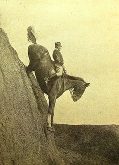 Advanced cross country riding at the Italian Cavalry School at Tor di Quinto near Rome in 1906