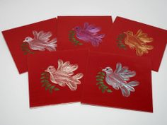 Easter embroidered greeting cards made by hand by our girls of the Subhodayam centre for phisically challenged. Social Enterprise, Design Products, Our Girl, Happy Easter, Women Empowerment, Centre, Greeting Cards, India, Girls