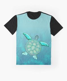 TYE AND DYE TURTLE 368 Graphic T-Shirt Designed and sold by sana90 Pastels, Turtle, Shirt Designs, Africa, Women's Fashion, Turquoise, Abstract, Mens Tops, T Shirt