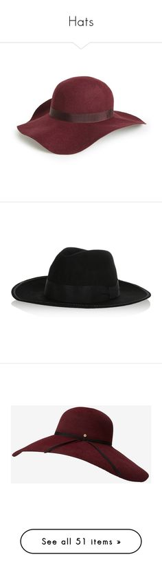 """""""Hats"""" by faustipepa ❤ liked on Polyvore featuring accessories, hats, headwear, woolen hat, wool felt hat, wide brim felt hat, wool hat, boho hat, wool felt fedora and karl lagerfeld"""