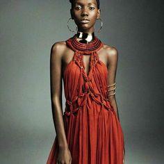 "'' Tendencias."" Vogue Spain March 2016. Model: Herieth Paul Photographer: Greg Kadel Fashion Editor: Elizabeth Sulcer Make-up: Mariel Barrera Nails: Alicia Torelo ----- #Osengwa | #AfricanArt | #AfricanFashion | #AfricanMusic | #AfricanStyle | #AfricanPhotography | #Afrocentric | #Melanin | #African | #Art | #AfricanInspired | #InspiredByAfrica | #BlackIsBeautiful | #ContemporaryArt | #OutOfAfrica"