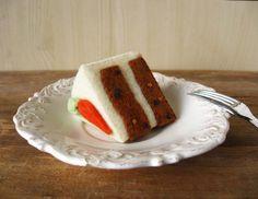 Felt Carrot Cake Slice Play Food