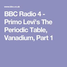 biography of primo levi vanadium (book jacket status: jacketed) the periodic table is largely a memoir of the years before and after primo levi's transportation from his native italy to auschwitz as an anti-facist partisan and a jew.