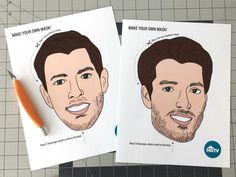 Are You Team Jonathan or Team Drew? Make Your Own Brother Vs. Brother Mask! >> http://www.hgtv.com/design-blog/shows/make-your-own-brother-vs--brother-mask?soc=pinterest