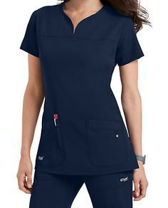 Shop for solid scrub tops in vibrant colors and comfortable styles at Scrubs & Beyond. We carry solid scrub tops made by all of the most trusted brands. Greys Anatomy Uniforms, Greys Anatomy Scrubs, Scrubs Outfit, Scrubs Uniform, Dental Uniforms, Stylish Scrubs, Cute Scrubs, Womens Scrubs, Medical Scrubs