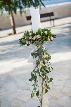 Aggeliki and Dimitris boho style wedding in Crete was so stylish you would think it was taken right out of a magazine! Aggeliki was wearing a chic wedding Grecian Wedding, Greek Wedding, Diy Wedding, Wedding Ideas, Aisle Flowers, Church Flowers, Wedding Flowers, Rustic Wedding Centerpieces, Wedding Decorations