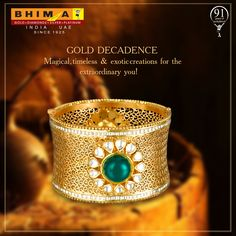 Exquisitely crafted gold bangles, just for you!  #ExperienceBhima  #BhimaGold #PureGold