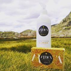 Jabón y crema corporal eco de caléndula. Certificado ecológico por bio.inspecta . Made in Spain.