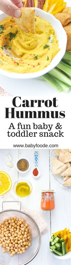 A yummy hummus that your baby & toddler will love that is full of added nutrients!