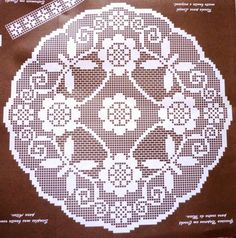 crochet review: crochet doilies schemes