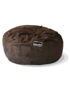 Chocolate Brown Microfiber Bean Bag