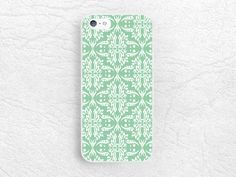 Mint Green Damask pattern phone case for iPhone 6, 6 plus, Sony z1 z2 z3 compact, LG g2 g3 nexus 5, HTC one M9 m7 m8, Moto x Moto g -P31