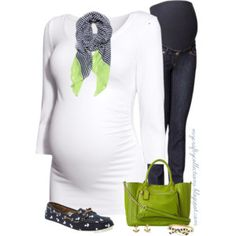 Maternity Outfit: Nautical