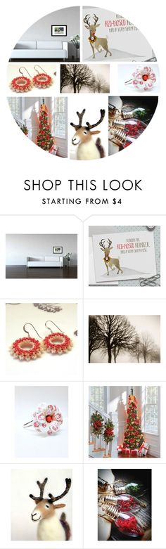 """""""Rudolph The Red Nosed Reindeer"""" by jarmgirl ❤ liked on Polyvore featuring Improvements"""