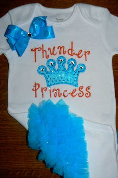Thunder Princess -Applique Ruffle Butt Onesie or Applique Shirt on Etsy, $23.00