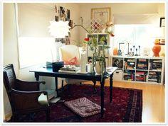 wonderful office via the decorista. Home office work space area.