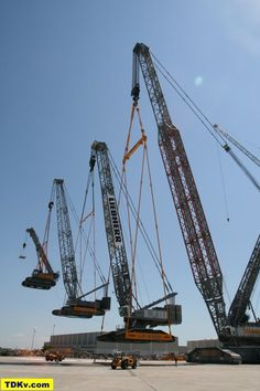 Liebherr LR 13000 lifting LR 11350 and two more cranes with information related to the pick