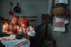 Dramski prikaz gatanja za vrijeme blagdanskih dana poslije Božića u Rusiji, poznatih kao Svjatki. Fotografija: Aleksandar Rjumin / TASS.