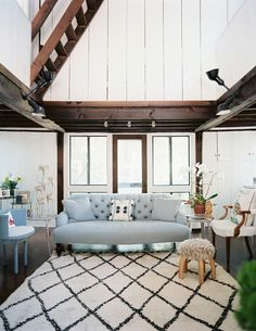 White and rustic.
