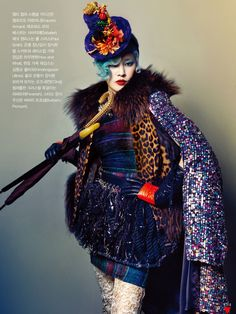 """Inspired by Lynn Yaeger"" Vogue Korea October 2012 