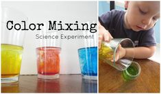 Simple doesn't mean boring. This color mixing science experiment for preschoolers will be a hit with your kids!