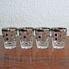 DorothyThorpe Polka Dot Shot Glasses via Fab.