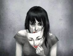 Image about sad in feelings 🙏 by fuck off. Illusion Kunst, Depression Art, Smiling Depression, Arte Obscura, Beneath The Surface, Sad Art, Gcse Art, Woman Face, Oeuvre D'art